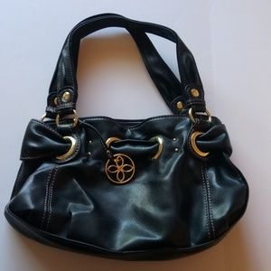 RELIC WOMENS BLACK LEATHER SHOULDER BOHO PURSE